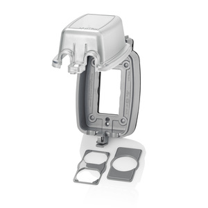 """Leviton 5980-UCL Weatherproof While-In-Use Cover, 1-Gang, Vertical, Depth: 3.08"""""""