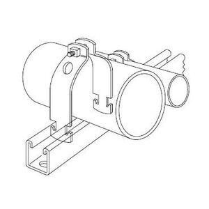 "Kindorf C-200-2 Universal Strut Strap, Diameter: 2"", Steel/Galvanized"