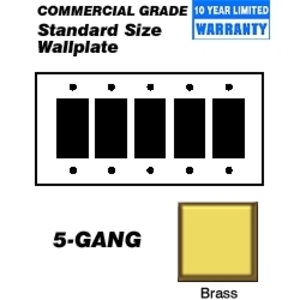 Leviton 81423 Brass 5gang Decora Wp