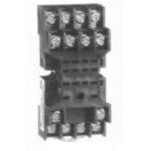 Allen-Bradley 700-HN128 Socket, 14-Blade, Base, Open Screw Terminals, No Clip