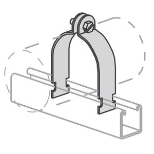 "Kindorf C-200-1/2 Universal Strut Strap, Diameter: 1/2"", Steel/Galvanized"