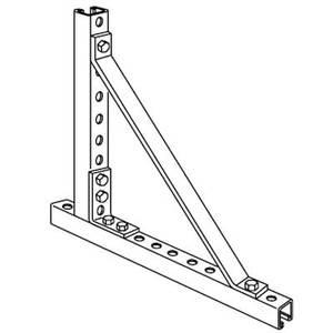 """Kindorf B-940-2 Corner Brace, Steel, 13-1/2"""""""