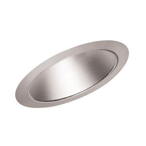 "Juno Lighting 612-HZSC Slope Trim, Cone, 6"", Haze Reflector/Satin Chrome Trim"