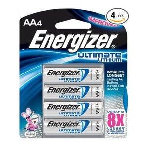 Energizer L91BP-4 Battery, Lithium, 1.5 Volt, Size: AA, 2900 mAh