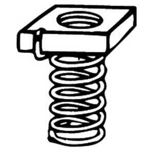 "Kindorf B-911-5/16 Spring Channel Nut, Size: 5/16"", Steel/Galvanized"