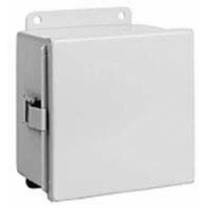 "Hubbell-Wiegmann B141206CHQR Junction Box, NEMA 12, Continuous Hinge, 14"" x 12"" x 6"", Steel"