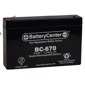 BC-670 Sealed Lead Acid Battery, 6V, 7A