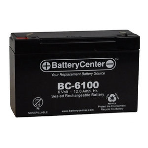 BCI BC-6100 Sealed Lead Acid Battery, 6V, 12A