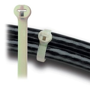 "Thomas & Betts TYHT28M Cable Tie,50lb,14"",high Temp, Nat"