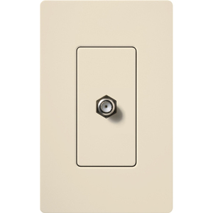 Lutron CA-CJ-LA Cable TV Jack, Light Almond