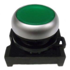 Eaton M22-DL-G Pushbutton, Flush, Green, M22, Operator Only, Illuminated