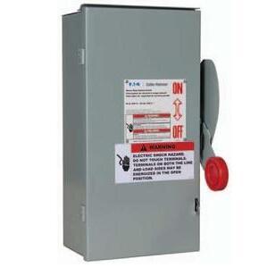 Eaton DH162NRK Safety Switch, 60A, 1P, 600VDC, HD, Fusible, NEMA 3R