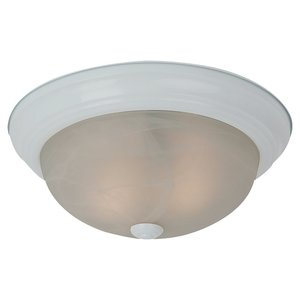 Sea Gull 75942BLE-15 Ceiling Fixture, 2 Light, White