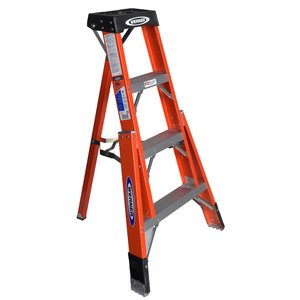 Werner Ladder FTP6204 4' Tripod Step Ladder, Type IA, 300 lbs