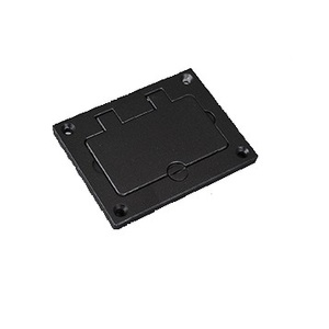 "Wiremold 828GFITCAL-BK GFI Cover Plate, 3-1/4"" x 4-5/32"", Flip Lid, Aluminum"