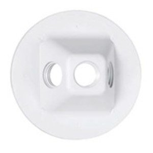 Hubbell-TayMac PLV330WH Cluster Cover, 3-Hole
