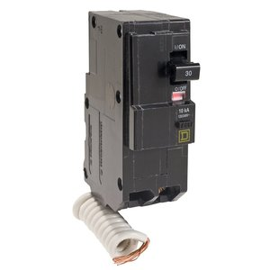 Square D QO230EPD Breaker, QO Type, 30A, 2P, 120/240VAC, 10kAIC, Stab On, EPD