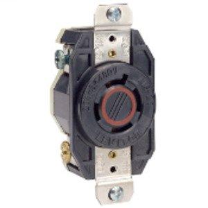 Leviton 2430 Locking Single Receptacle, 20A, 3PH 480V, 3P4W