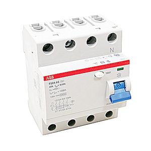 ABB F204AC-25/0.03 25A, 4P, 480Y/277V, UL 1053, Residual Current