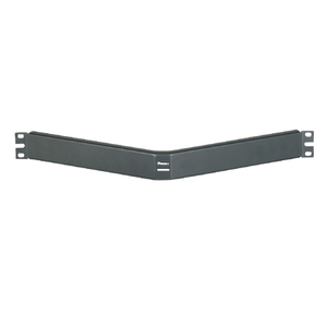 "Panduit CPAF1BLY Rack, Filler Panel, Horizontal, Angled, 1RMU, 1.72"" Hx19"" Wx4.16"" D"