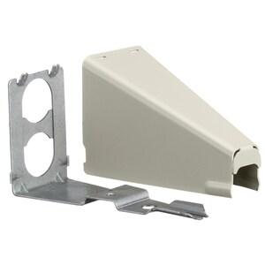Hubbell-Wiring Kellems HBL5786IVA Adjustable Offset Connector, HBL500/750 Metal Raceway, Steel, Ivory