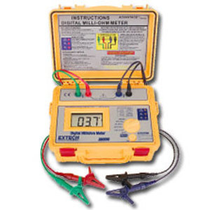 Extech 380580 Milliohm Meter, Battery Powered, Kit with Test Leads