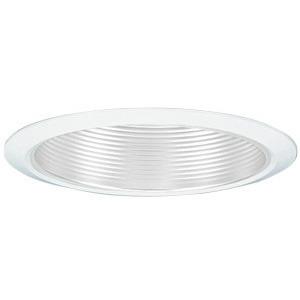 """Lithonia Lighting 7B2WTORU Baffle Trim, Narrow Flange, 6"""", White Baffle/White Trim"""