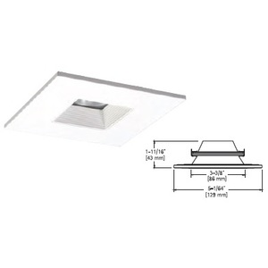 "Halo TLS408WHWB 4"" LED Square Downlight Baffle Trim"