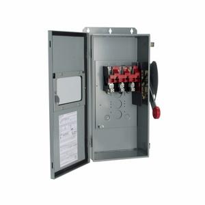 Eaton DH323NDKW Safety Switch, 100A, 2P, 3W, 240V/250DC, HD Fusible, NEMA 12, Window