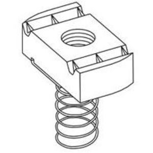 Cooper B-Line N225SS6 Spring Nut, 200 Series, Size: 1/2-13, Steel/Zinc Plated