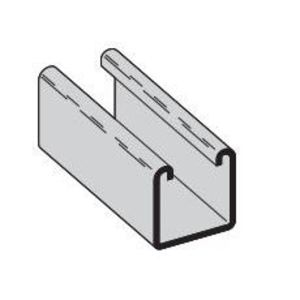 "Cooper B-Line B22-120SS4 Channel - No Holes, Stainless Steel 304, 1-5/8"" x 1-5/8"" x 10'"