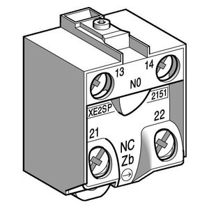 Square D XE2SP2151 Limit Switch, Contact Block, 1NO/NC, Snap Action, Break Before Make