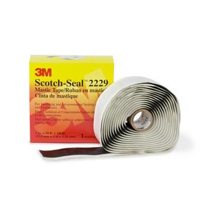 """3M 2229-3-3/4X10FT Mastic Tape, Black, 3-3/4"""" x 10' Roll"""