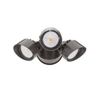 Lithonia Lighting OFLR9LN120MOBZM2 Dusk-To-Dawn Floodlight, 9 LED, 3 Heads,120 Volts, Bronze