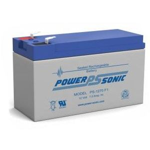 Power-Sonic PS-1270F2 Sealed Lead Acid Battery, 12 Volt, 7 Amp