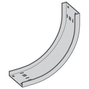 "Cooper B-Line ACC-04-90VI24 Cable Tray 90° Vertical Inside Bend, 24"" Radius, 4"" Wide,  Aluminum"