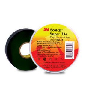 "3M 33+SUPER-3/4X66FT Professional Electrical Tape, Black, 3/4"" x 66', 7 mil"