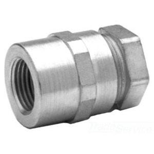 "Midwest LTR100 Combination Coupling, Liquidtight to Rigid/IMC, Size: 1"", Malleable"