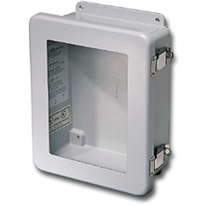 "Stahlin JW806HPL Junction Box, NEMA 4X, Hinged Window, 8"" x 6"" x 4"", Fiberglass"