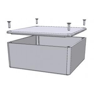 """Hammond Mfg 1590UFL Enclosure, IP54, Screw Cover, 4.70"""" x 4.70"""" x 2.17"""", Aluminum"""
