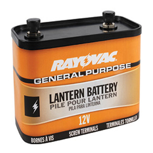 Rayovac 926 Lantern Battery, General Purpose, 12 Volt, Screw Terminals