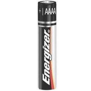 Energizer E96BP-2 AAAA Battery, Flat Top, 1.5V, Alkaline, 2 Pack