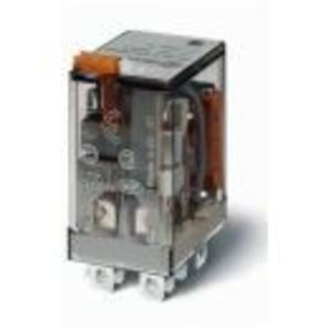 Finder Relays 56.32.8.120.0050 Relay, Ice Cube, Miniature, 8 Blade, 12A, 2P, 120VAC Coil, w/ Option