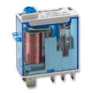 Finder Relays 46.61.9.024.0074 Relay, Ice Cube, Miniature, 8 Blade, 8A, 2P, 24VDC Coil, w/ Option