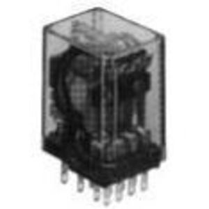 Tyco Electronics KHU-17A11-24 Relay, Ice Cube, 3A, 14-Blade, Solder, 4PDT, 24VAC Coil, No Options