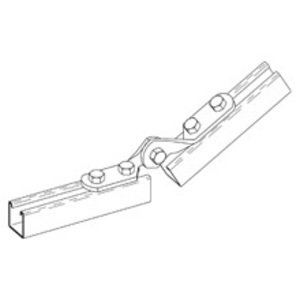 "Cooper B-Line B335ZN Four Hole Adjustable Hinge, 4-11/16"" Hinge, Steel/Zinc Plated"