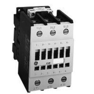 GE CL07E311MD Contactor, IEC, 62A, 460VAC, 3P, 24VDC Coil, 1NO/1NC Aux. Contact