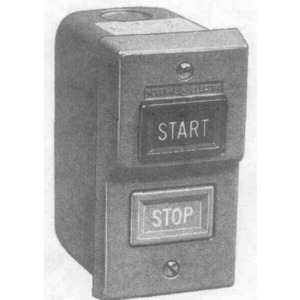 GE CR101JA0A001 Manual Starter, 2P, Open, Flush Plate, START/STOP, Pushbutton