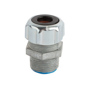 "Thomas & Betts 035-72775-22 Liquidtight Cord Connector, Strain-Relief, 1-1/4"", Zinc Die Cast"