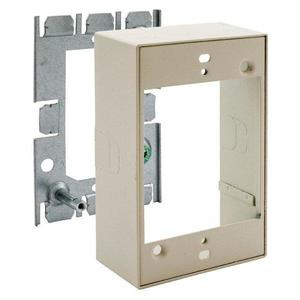 Hubbell-Wiring Kellems HBL5751IVA Extension Box, 1-Gang, 500/700 Series Metal Raceway, Steel, Ivory